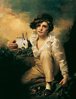 Boy and Rabbit, c.1814, raeburn