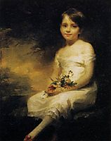 Little Girl Holding Flowers, Portrait of Nancy Graham, 1798, raeburn