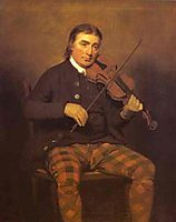 Portrait of Niel Gow, c.1793, raeburn