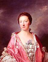 Portrait Of Elizabeth Gunning, Duchess Of Argyll, 1760, ramsay