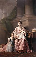 Queen Charlotte with her Two Children, c.1765, ramsay