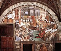 The Coronation of Charlemagne, 1516-1517, raphael
