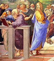 Disputation of the Holy Sacrament, La Disputa, detail_10a, 1510-1511, raphael