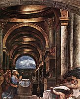 The Expulsion of Heliodorus from the Temple, detail_2, 1511-1512, raphael