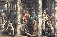The Healing of the Lame Man (cartoon for the Sistine Chapel) , raphael