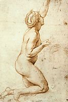 Kneeling Nude Woman, c.1518, raphael