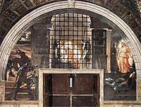 The Liberation of Saint Peter, 1514, raphael