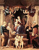 Madonna of the Baldacchino  , raphael