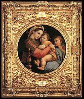 Madonna della Seggiola, framed, 1514, raphael
