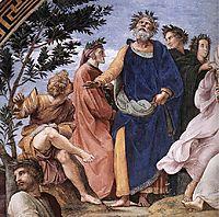 The Parnassus, detail_2, 1509-1510, raphael