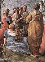 The Parnassus, detail_3, 1509-1510, raphael