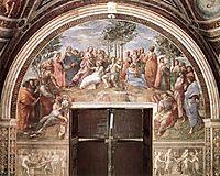 The Parnassus, from the Stanza delle Segnatura , 1511, raphael