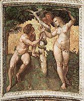 The Saintanza della Segnatura Ceiling, Adam and Eve, 1509-1511, raphael