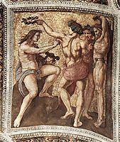 The Saintanza della Segnatura Ceiling, Apollo and Marsyas, 1509-1511, raphael