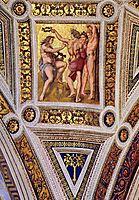 The Saintanza della Segnatura Ceiling, Apollo and Marsyas, detail_1, 1509-1511, raphael