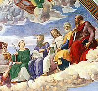 The Saintanza della Segnatura Ceiling, detail_3, 1508-1511, raphael