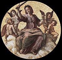 The Saintanza della Segnatura Ceiling, Justice, 1509-1511, raphael