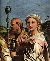 St. Cecilia with Saints (detail), 1516, raphael