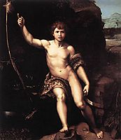 St. John the Baptist in the Desert , 1520, raphael
