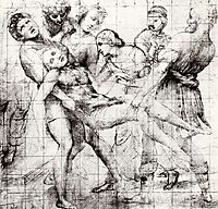 Study for the -Entombment- in the Galleria Borghese, Rome , raphael