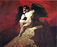 Angel in Chains, c.1875, redon