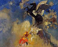 The Black Pegasus , redon