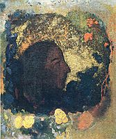 Black Profile (Gauguin), c.1906, redon