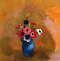 Bouquet of anemones , redon