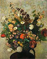 Bouquet of Flowers, redon