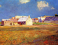 Breton Village, c.1890, redon