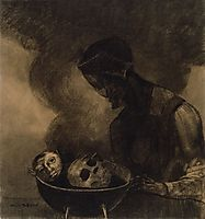 Cauldron of the Sorceress, 1879, redon