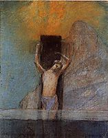 Christ on the Cross, c.1897, redon