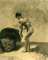 David and Goliath, 1875, redon