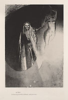 Death: It is I who makes you serious; let us embrace each other (plate 20), 1896, redon