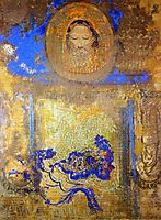 Evocation (Head of Christ or Inspiration from a Mosaic in Ravenna), redon