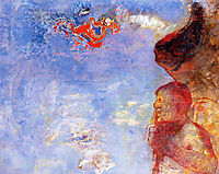 The Fallen Angel, c.1905, redon