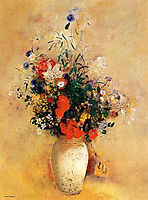 Flowers in a Blue Vase, c.1910, redon