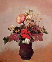 Flowers in aa Brown Vase, c.1904, redon