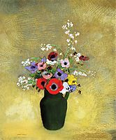 Flowers in a Green Pitcher, redon