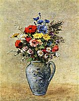 Flowers in a Vase with one Handle, c.1905, redon