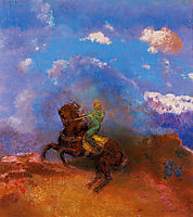 The Green Horseman, c.1904, redon