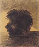 Head of Orpheus on the Water or The Mystic, 1880, redon