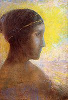 Head of a Young Woman in Profile, c.1895, redon