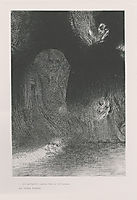 I have sometimes seen in the sky what seemed like forms of spirits (plate 21), 1896, redon