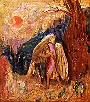Jacob Wrestling with the Angel, c.1905, redon