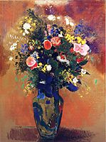 Large Bouquet of Wild Flowers, redon