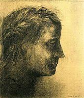 The laureate head, c.1875, redon