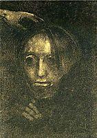 Man-s head, redon