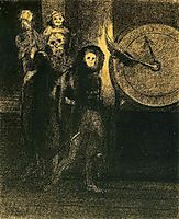 The Mask of the Red Death, 1883, redon