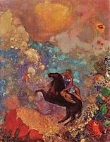 Muse on Pegasus, c.1900, redon